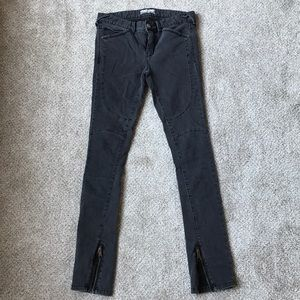 Free people stone ankle zipper jeans